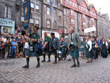 Clan Douglas (image 48) Clan Douglas on parade Lawnmarket near the top of The Royal Mile front left