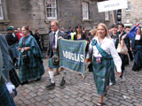 Clan Douglas (image 59) Clan Douglas on parade on Castle Hill by the Weavers