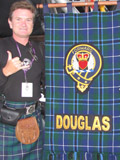 Clan Douglas (image 62) Hamish Douglas Burgess with the Clan Douglas banner at the Castle Esplanade