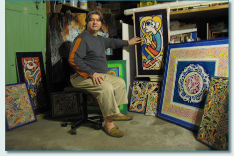 Aidan Meehan in his studio 2009