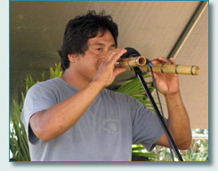 Anthony Natividad with Hawaiian Noseflutes, Royal Lahaina Hoike 2010
