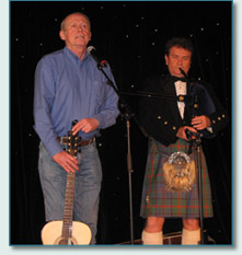 Archie Fisher and Hamish Burgess on Robert Burns Night on the irish Music Cruise 2010