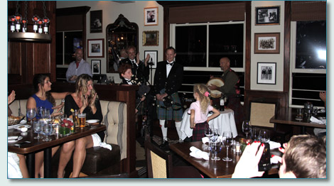 The Asher family at Robert Burns Night, Fleetwoods on Front St, Lahaina, Maui. Jan 25th 2013