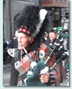 An Auld Piper on the Clan Parade, The Gathering 2009, Edinburgh