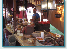 Artisan booth at the   Festival Intercéltico de Avilés y Comarca, Asturias