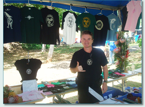 Hamish at the Maui Celtic booth at Barryfest 2010