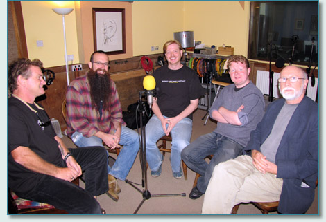 Hamish Burgess interviews the Battlefield Band at Temple Records, July 2009