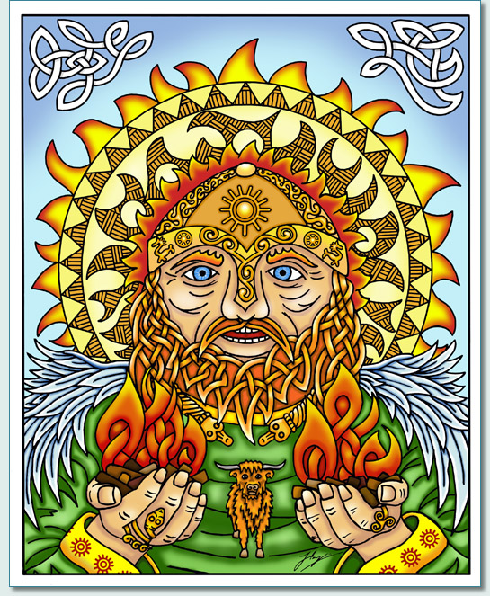 'BEL' the Celtic Sun God by Hamish Burgess © 2013