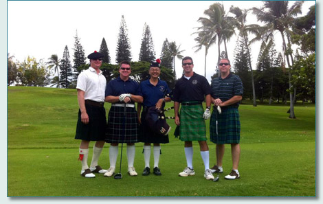 Blue Shamrock Kilted Classic on Oahu 2012