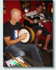 Bud Clark and Clint Burdick at Mulligans at the Wharf, Lahaina