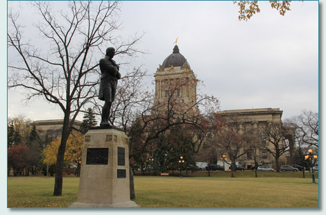 Robert Burns statue at the Manitoba Legislature Building, Winnipeg