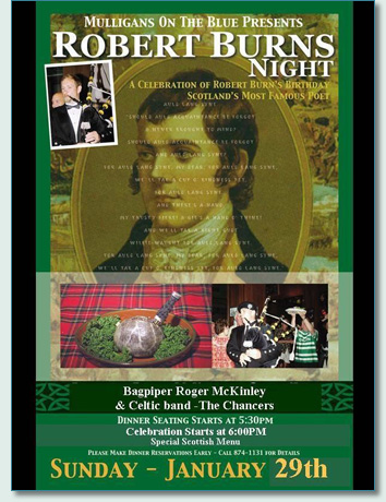 Robert Burns Night at Mulligans Wailea Jan 29th 2012