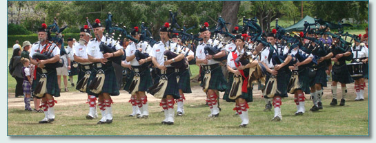 The Celtic Pipes and Drums of Hawaii, at the Hawaiian Scottish Festival '09