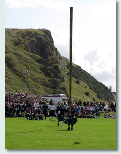 Tossing the Caber at TheGathering 2009, Edinburgh