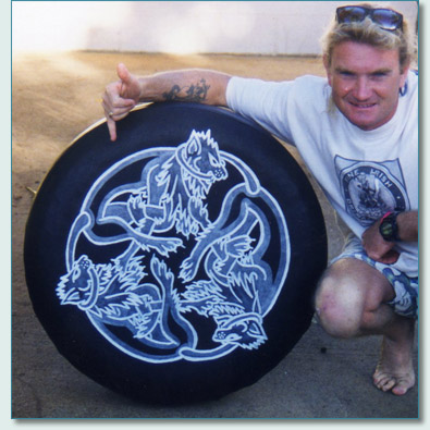 'Celtic Lions' Wheelcover by Hamish Douglas Burgess