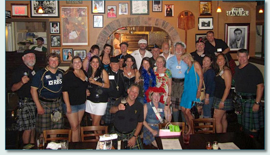Saint Andrews Society of Hawaii at JJ Dolans in Honolulu on the Celtic Pub Crawl, May 2013