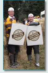 Sheildmen at the Canadian Cheese Rolling Championships, Whistler Blackcomb 2009