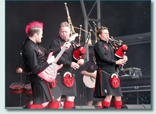 Red Hot Chilli Pipers at The Gathering 2009, Edinburgh