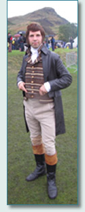 Actor Chris Tait brought Robert Burns to life at The Gathering 2009, Edinburgh