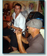 Clint Burdick and Bud Clark at Mulligans at the Wharf, Lahaina, Maui