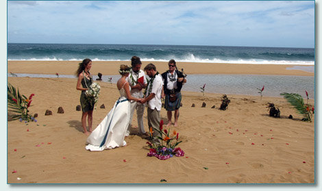 Liam and Maluhia Cooney wedding on Kauai, 10-10-10
