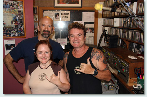 Daniel Vicars, Molly Bauckham and Hamish Burgess on the Maui Celtic Radio Show, Mana'o Radio, Wailuku, Maui