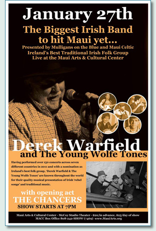 Derek Warfield and The Young Wolfe Tones at the Maui Arts & Cultural Center