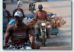 Bread Bike in the Dominican Republic
