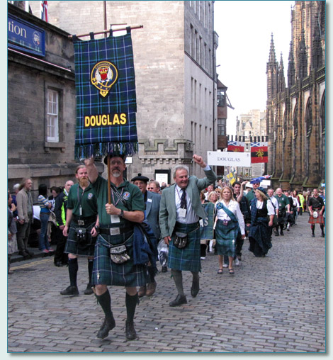 The Douglas Clan on the Clan Parade at The Gathering 2009, Edinburgh