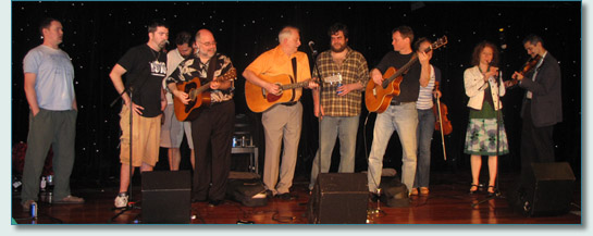 Kevin Evans and Brian Doherty, and guests on the Irish Music Cruise 2010