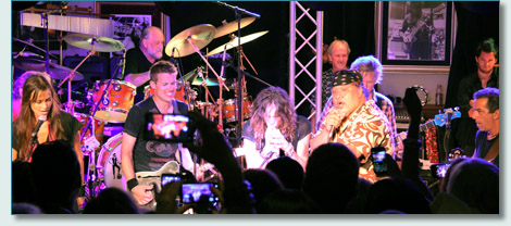 Mick Fleetwood's Island Rumours with Jonny Lang and Steven Tyler at Fleetwood's on Front St., Lahaina, Maui - August 23rd 2012
