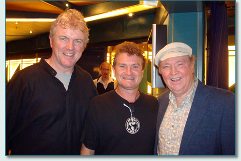Gabriel Donohue, Hamish Burgess and Liam Clancy, Irish Music Cruise 2009