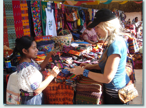 Jennifer in the market in Santo Tomas, Guatemala