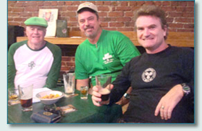O'Tooles Guinness Toast judges Chuck Wall, Bart DaSilva, and Hamish Burgess