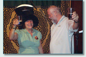 O'Tooles Guinness Toast winner, and patron Bill Comerford