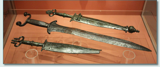 Swords in the Museum Hallstatt