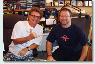 Hamish Burgess and Bruce Gandy at the Mana'o Radio