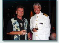 Hamish Burgess and Captain James Russell-Dunford of the M.S. Veendam