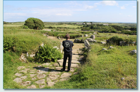 Hamish Burgess at the ancient village of Carn Euny, West Cornwall