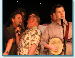 Hamish Burgess, Seamus Kennedy, Mairtin de Cogain and Rory Makem - Irish Music Cruise Grand Finale 2012