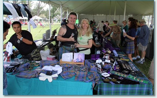 Hawaii Tartan at the Maui Celtic booth at the Hawaiian Scottish Festival, Waikiki, April 2013