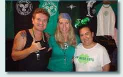 Hamish, Jennifer and Ming of Maui Celtic, Honolulu St.Patrick's Day  Downtown Block Party