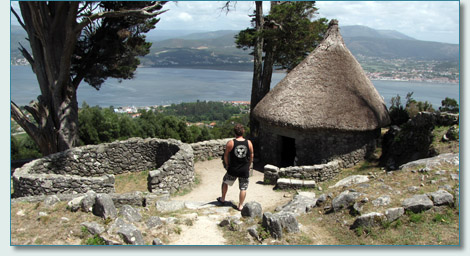 Hamish Burgess at the Castro de Santa Tegra, La Guarda, southern Galicia, Spain