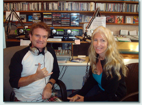 Hamish Burgess and Jennifer Fahrni at Mana'o Radio Studios, Wailuku Maui, Winter Solstice Show