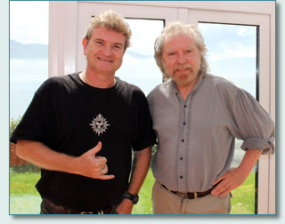 Hamish Burgess and Tommy Sands in Rostrevor, County Down, Ireland - June 2012