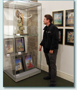 Hamish at the Patrick Woodroffe exhibition, Royal Cornwall Museum, Truro