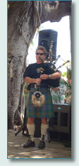 Hamish Burgess playing at the Lahaina Banyan Tree 136th Birthday
