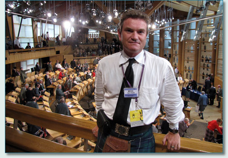 Hamish Douglas Burgess at the Clan Convention, Scottish Parliament, Edinburgh 2009