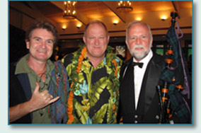 Hamish Burgess, Don Murphy and Dan Quinn  at the Friends of St.Patrick's Emerald Ball, Honolulu 2010