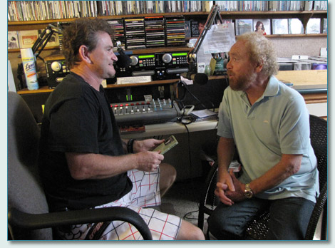 Hamish Burgess and George Millar, Mana'o Radio Studios, Wailuku, Maui - November 2010